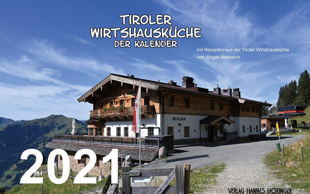 """Kalender """"Tiroler Wirtshausküche"""" 2021"""
