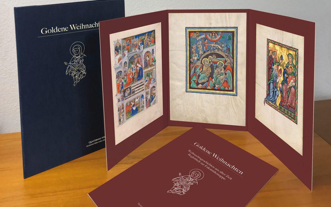 Goldene Weihnachten – Faksimilemappe mit drei Original-Faksimileblättern